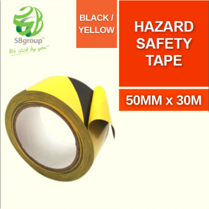 319 PVC Floor Marking Tape BLACK _ YELLOW