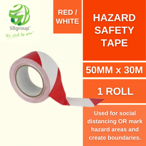 SB76 Red white hazard safety tape